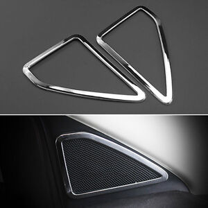 Fit For Ford Escape Kuga Chrome A Pillar Door Stereo Speaker Cover Trim Ring 2pc