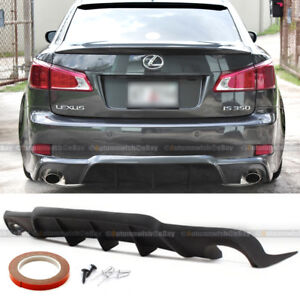 For Is250 Is350 Wd W Style Urethane Rear Bumper Diffuser Chin Lip Add On Kit