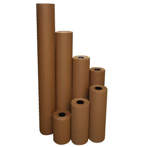 48 40 Lbs 900 Brown Kraft Paper Roll Shipping Wrapping Cushioning Void Fill