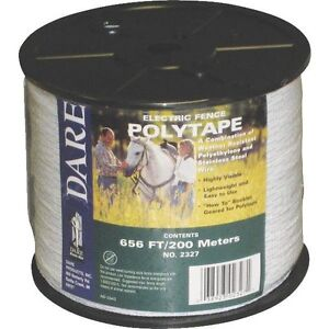 Usa Dare 1 2 Inch Poly Electric Fence Horse Tape 656ft Farm Ranch Tool Equine