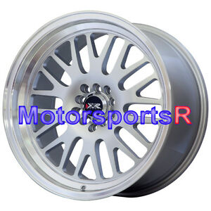 Xxr 531 Wheels 17 X 9 25 Rims Silver Deep Lip 5x114 3 15 Stance Honda Civic Si