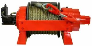 Hydraulic Winch 22 000 Lbs Capacity High Torque Motor 2 Stage Gearing