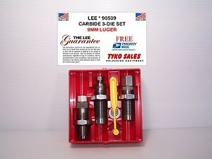 90509 * LEE PRECISION * CARBIDE 3-DIE SET * 9MM LUGER * 9MM PARABELLUM * NEW!