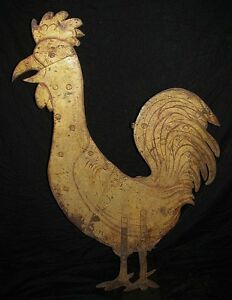 Antique Folk Art Tall Rooster Iron Weather Vane Long Island Shipping Available