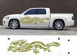Vinyl Graphic Decal Dragon Car Truck Boat Kits Custom Size Color Variation F3 61