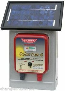 6 Volt Parmak Solar Powered Electric Fence Charger Df sp li 25 Mile Radius300541