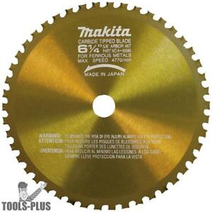 Makita 6 1 4 46 Tooth Metal Cutting Saw Blade With 5 8 Arbor A 90685 New