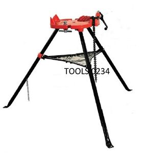Ridgid 36273 Model 460 6 Portable Tristand Chain Vise Stand 1 8 6 Usa Made