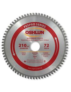 Oshlun Sbft 210072a 210mm 72t Non ferrous Tcg Saw Blade For Festool Ts 75 Eq