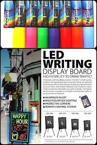 Flashing Led Writing Board Advertising Menu Remote And Markers Large