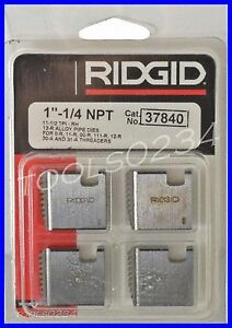 Ridgid 37840 12r Alloy Pipe Threading Dies 1 1 4 11 1 2 Npt Set Of 4 Usa Made