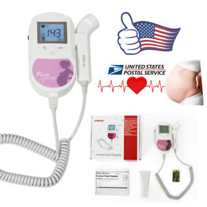 Fda Approved Fetal Heart Doppler backlight Lcd 3mhz gel Usa Seller 1y Warrnty