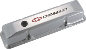 Proform 141 108 Small Block Chevy Tall Polished Aluminum Valve Covers Chevy Logo
