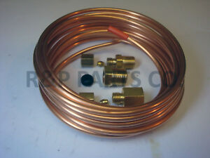 Oil Pressure Mechanical Gauge Copper Tubing Line Kit 1 8 Od X 12 Foot Abc523