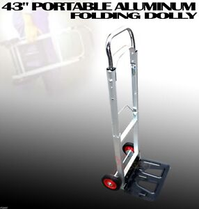 200lbs Portable Aluminum 43 Folding Dolly Moving Hand Cart Trucks Holds