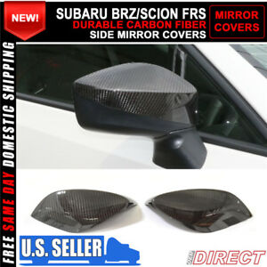 Fit For 12 15 Toyota Gt86 Subaru Brz Scion Fr s Black Cf Side View Mirror Cover