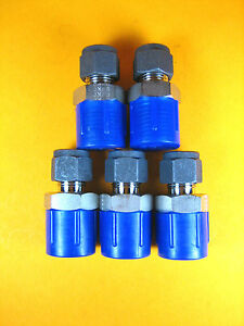 Parker 6 8 Fbz ss Ss Male Connector Tube To Pipe 3 8 X 1 2 lot Of 5