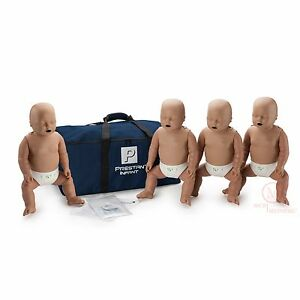 4 pack Prestan Infant Manikins W Feedback Pp im 400m ds Cpr Training Mannequin