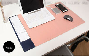 10day Shipping Wide Desk Mat Pink Navy 28x17 Nonslip Office Desk Pad Big Size