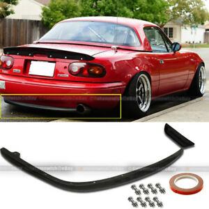 Fit 90 97 Miata Urethane Oe Style Pu Rear Bumper Chin Lip Body Kit Ground Effect