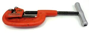Ridgid Heavy Duty Pipe Cutter 2a 202 1 8 To 2 Pipe Extra Long Shank