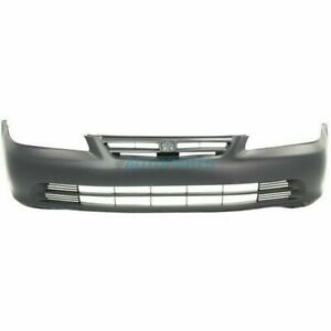 New Front Bumper Cover Primed Fits 2001 2002 Honda Accord Sedan Ho1000196