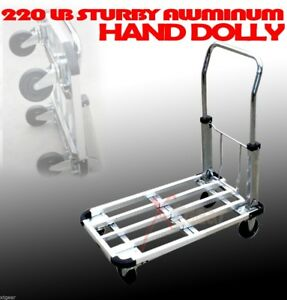 28 220lb Aluminum Flat Moving Sturdy Extendible Compact Hand Cart Truck Dolly