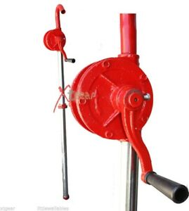 Heavy Duty 55 Gallon Drum Rotary Hand Pump New Oil Fuel Barrel