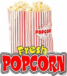 Fresh Popcorn 24 Decal Concession Food Truck Cart Trailer Vinyl Sticker Sign