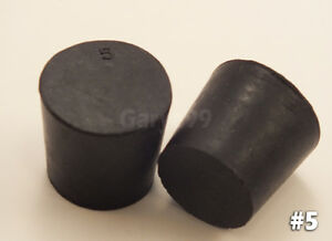6 5 Black Natural Rubber Laboratory Stoppers Size 5 Solid Stopper Plug Rs 5