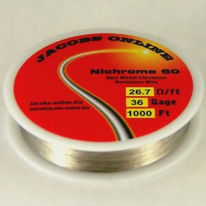 Nichrome 60 Resistance Wire 36 Awg gauge 1000 Feet