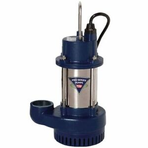 Pro Series 1 3 Hp Cast Iron Submersible Sump Pump non automatic