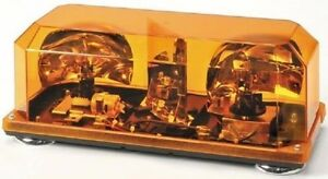 Wolo Priority 1 Magnetic Mounted Halogen Mini Bar Amber Warning Light Wol3500m A