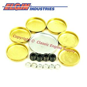 New Ep110br Elgin Brass Freeze Plug Set Ford Bb 330 352 360 361 390 391 427 428