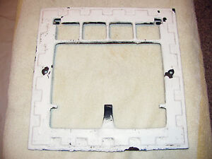 Antique Vintage Ornate Wall Vent Heat Register Grate Frame Cast Iron 11 3 4