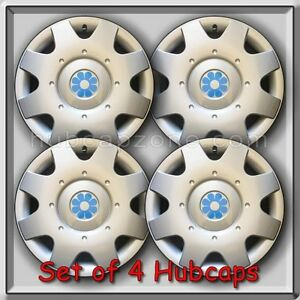 1998 1999 16 Vw Volkswagen Beetle Blue Daisy Flower Hub Caps Wheel Covers