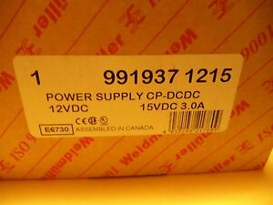 Weidmuller 991937 1215 Power Supply Cp dcdc 12vdc In 15vdc 3 0a