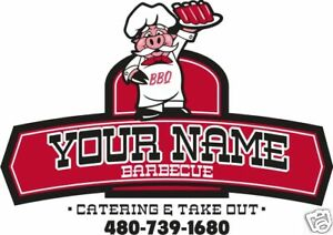 Personalized Bbq Barbecue Concession Restaurant Cater Food Truck Vinyl Decal 36