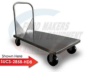 Stainless Steel Flat Bed Utility Cart