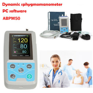 24h Nibp Holter Ambulatory Blood Pressure Monitor Abpm50 free Oximeter