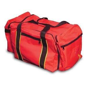 Large Red Ppe Gear Bag W Reflective Stripes Equipment Duffel Bag New Just In