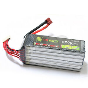Lion Power 22 2v 2200mah Lipo Battery 35c Max 50c T Plug For Rc Car Airplane Fpv