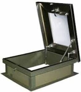 Lane aire Galvanized Steel Roof Hatch With Skylight 30 X 36