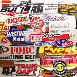 Large Lot 25 Racing Window Decals Stickers Nhra Nascar Street Outlaws Grab Bag