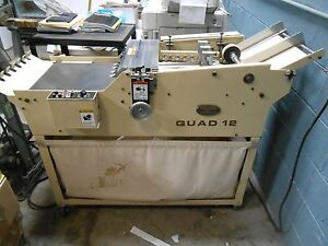 Therm o type Qoad 12 Business Card Slitter Slitters Cutter