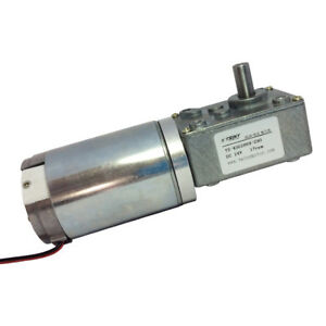 Small 24vdc 17rpm High Torque Drive Worm Geared Motor With Gearbox Gear Reducer