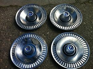 1963 1964 Ford Fairlane Xl 500 Set Of Original Hub Caps 4pcs