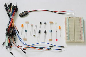 Electronics Kit With Breadboard Jumper Wires Components Flip Flop Schematic