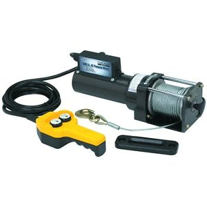 1500 Lb Capacity 120 Volt Ac Remote Controlled Electric Winch Horizontal Pull