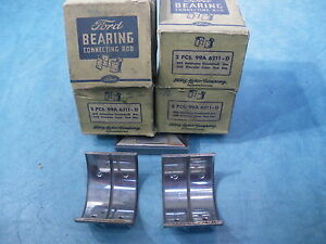 Nos Connecting Rod Bearings 003 008 Set 99a 6211 D 1939 1940 1946 47 1948 Ford